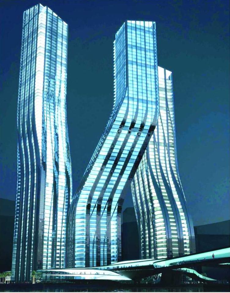 Dancing towers dubai for Le marde hotel